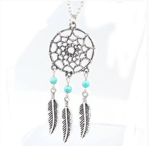 Dreamcatcher Feather Necklace