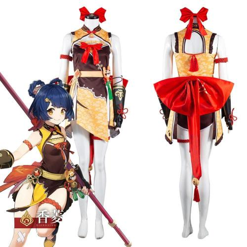 Genshin Impact Xiangling Outfits Halloween Carnival Suit Cosplay Costume