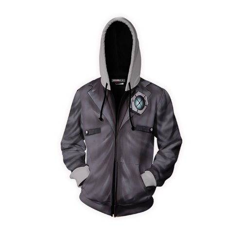 Borderlands Style 6 Game Unisex 3D Printed Hoodie Sweatshirt Jacket With Zipper