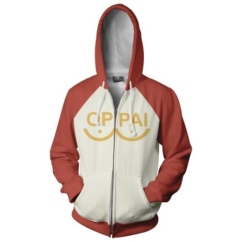 One Punch Man Anime Season 2 Saitama Oppai Cosplay Hoodie 3D Printed Zipper Jacket Sweatshirt