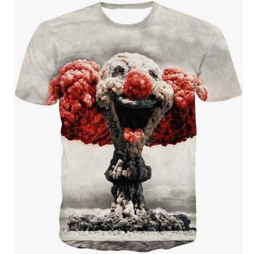 Hipster Nuclear Clown 3D T-Shirt V7