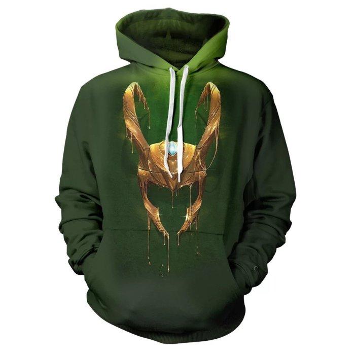 Loki Season 1 Hoodie Sweater Jacket Cosplay Costume For Adult