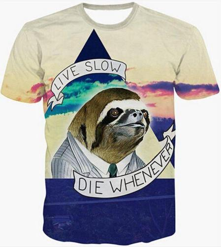 Hipster Live Slow 3D T-Shirt V17