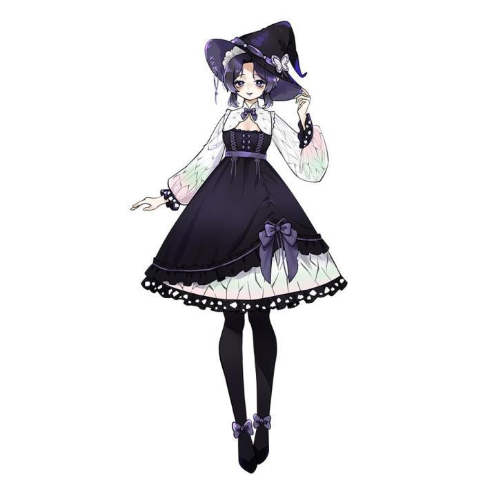 Pre-Order Demon Slayer Kochou Shinobu Lolita Halloween Dress Cosplay Costume