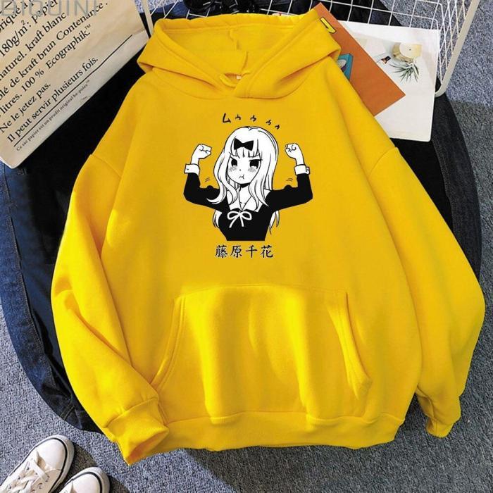 Kaguya Sama Love Is War Oversize Sweatshirt Chika Aesthetic Pullover Hoodie