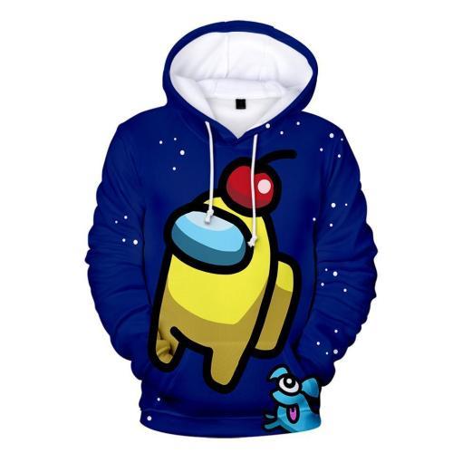Adult Style-10 Impostor Crewmate Among Us Cartoon Game Unisex 3D Printed Hoodie Pullover Sweatshirt