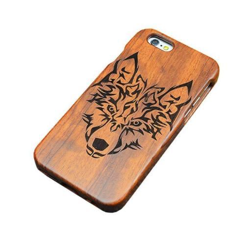 Wooden Wolf Phone Case