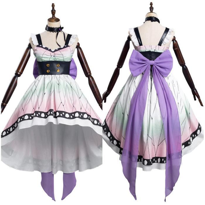 Demon Slayer Kochou Shinobu Lolita Dress Halloween Carnival Suit Cosplay Costume