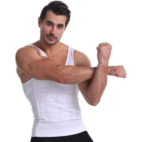 Men'S Body Slimming Under-Shirt