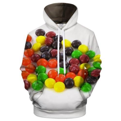 Smarties 3D Sweatshirt Hoodie Pullover