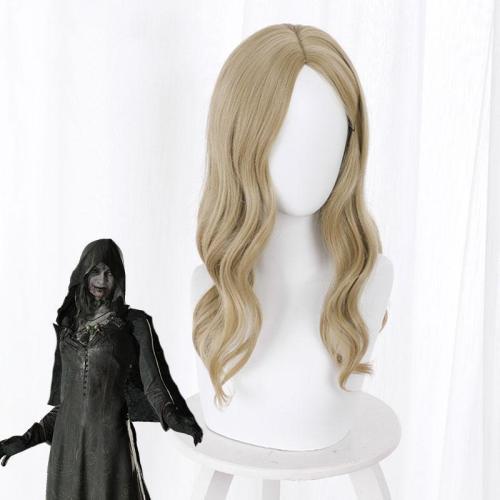 Resident Evil 8 Village Vampire Daughters Bela Daniela Cassandra Dimitrescu Golden Cosplay Wig