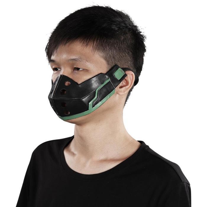 Anime My Hero Academia Midoriya Izuku Helmet Masquerade Halloween Party Costume Props Cosplay Latex Mask