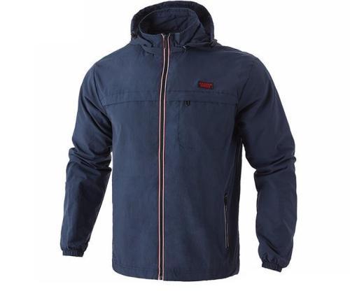 Hooded Jacket Double Layer Windbreaker Jacket