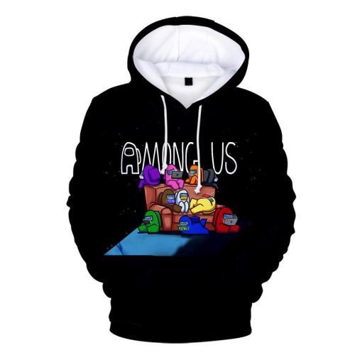 Adult Style-23 Impostor Crewmate Among Us Cartoon Game Unisex 3D Printed Hoodie Pullover Sweatshirt