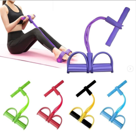 4 Tubes Resistance Bands Elastic Pull Ropes