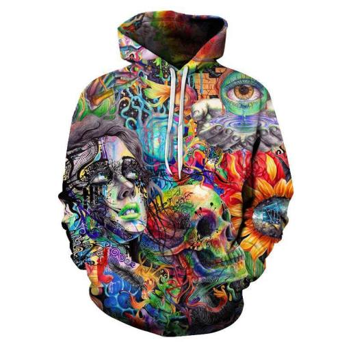 Psychedelic Paint 3D Hoodie