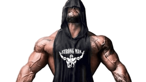 Brand Gym Clothing Fitness Men Cotton Tanktop With Hooded