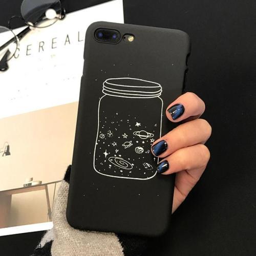 Black Space Phone Cases