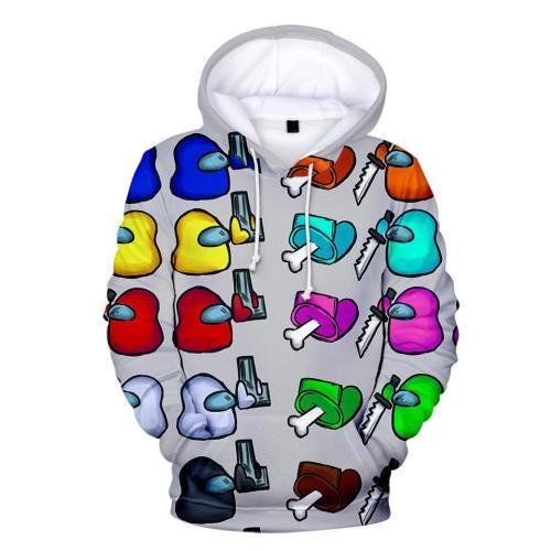 Kids Style-8 Impostor Crewmate Among Us Cartoon Game Unisex 3D Printed Hoodie Pullover Sweatshirt