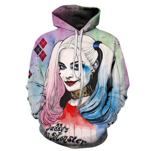 Harley Quinn 3D Sweatshirt Hoodie Pullover