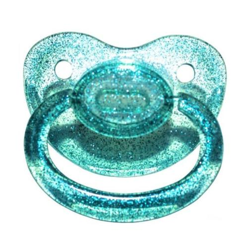 Teal Glitter Adult Pacifier