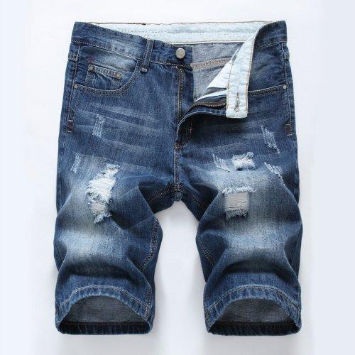 Men'S Summer Cotton Tattered Shorts