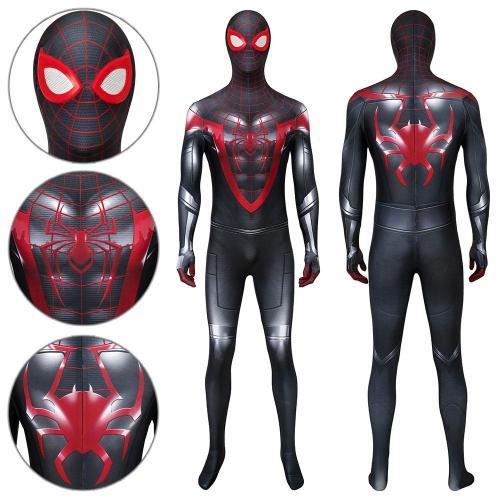 Spider-Man Miles Morales Advanced Suit Ps5  Spider-Man: Miles Morales Jumpsuit Cosplay Costume -