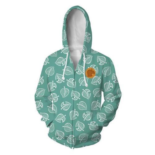 Animal Crossing  Horizons Game Bean Raccoon Timmy Tommy Cosplay Unisex 3D Printed Hoodie Sweatshirt Jacket With Zipper