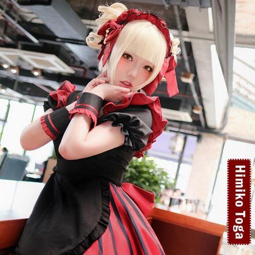 My Hero Academia Boku No Hero Akademia Himiko Toga Maid Halloween Cosplay Costume