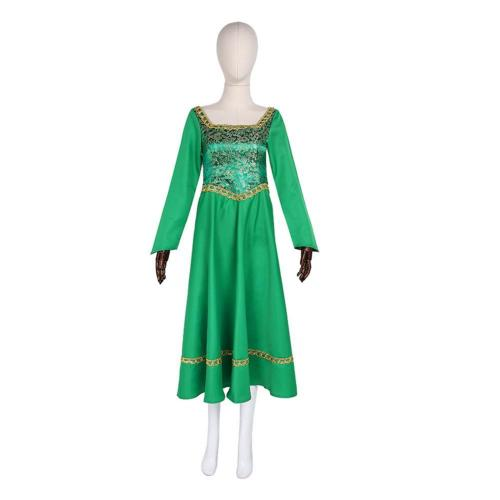 Shrek Princess Fiona Outfits Halloween Carnival Suit Cosplay Costume