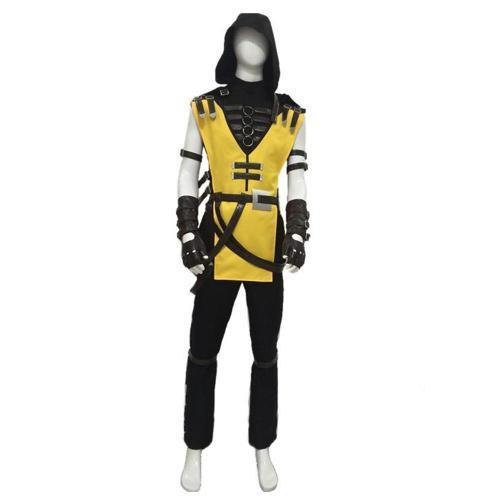 Game Mortal Kombat 11 Scorpion Hanzo Hasashi Cosplay Costume Male
