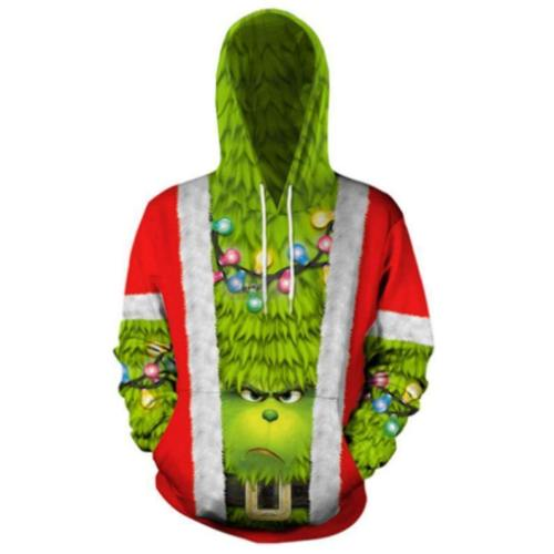 Green Haired Grinch Funny Icon 7 Anime Unisex 3D Printed Hoodie Pullover Sweatshirt
