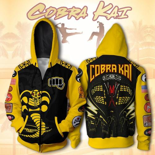 Cobra Kai Val Armorr Hoodies Cosplay Costume Karate Kid Jackets Cosplay 3D Printing Hoodies Sweatshirts Men Women T Shirt