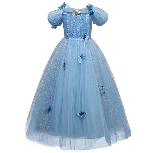 Kids Girls Princess Cinderella Dress Cosplay Costume Party Clothing
