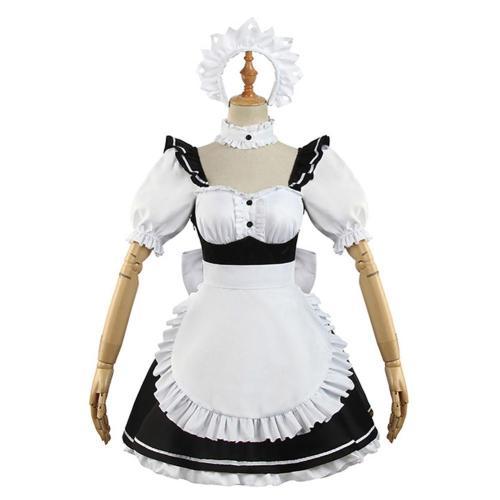 Anime Date A Bullet Tokisaki Kurumi Maid Dress Halloween Carnival Suit Cosplay Costume