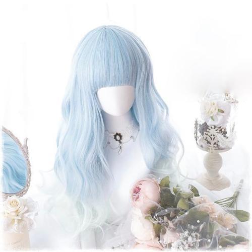Baby Blue Wavy Wig