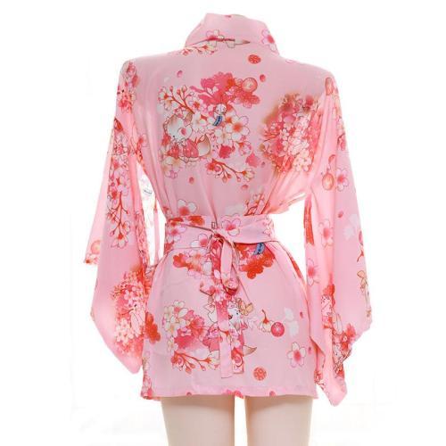 Sakura Floral Vintage Print Japanese Kimono Lingerie