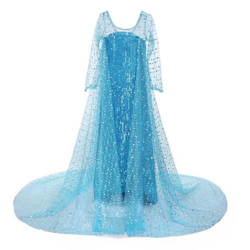 Kids Girls Princess Elsa Dress Cosplay Costume Christmas Fancy Dresses