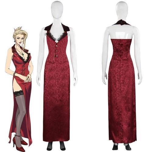 Final Fantasy Vii Ff7 Remake Scarlett Dress Halloween Carnival Suit Cosplay Costume