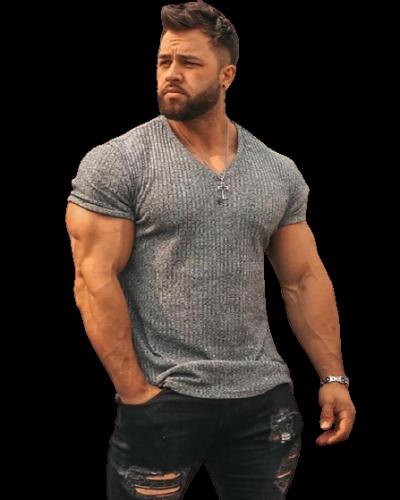 Running V Neck Short Sleeve T Shirt
