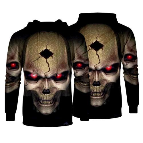 Men Hoodies 3D Pullover Sweatshirt Hoodies Print Skull Pattern Clothing