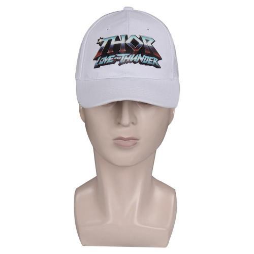 Thor: Love And Thunder Print Adjustable Men Women  White Snapback Caps Cosplay Baseball Cap