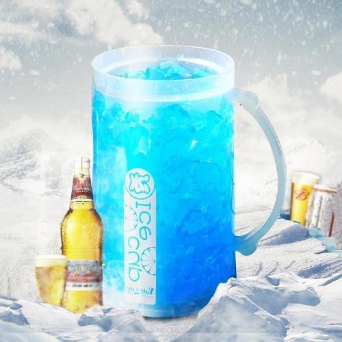 Luminous Double-Layer Refrigerated Glass Beer Mug
