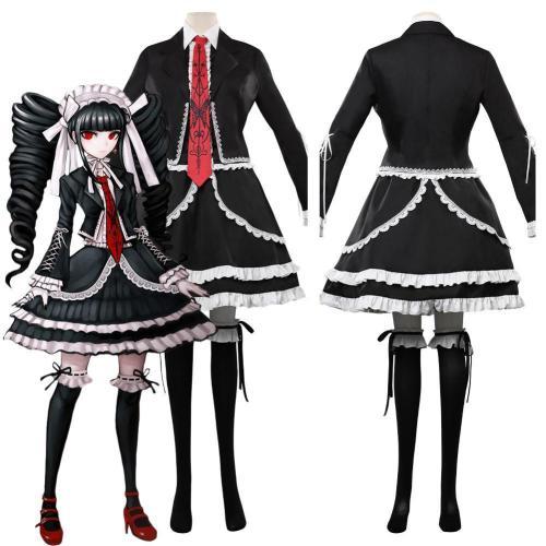 Anime Danganronpa V3 Celestia Ludenberg Uniform Dress Outfits Halloween Carnival Costume Cosplay Costume