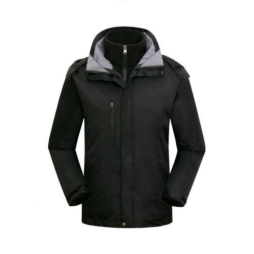 Two-Piece Sports Outdoor Hardshell Jacket Polar Fleece Windbreaker For Men