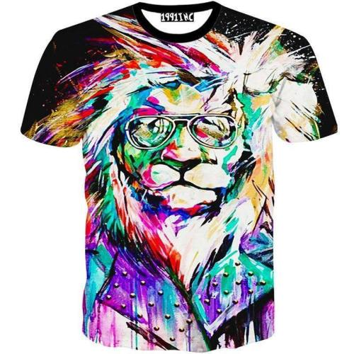 Hipster Lion 3D T-Shirt V2