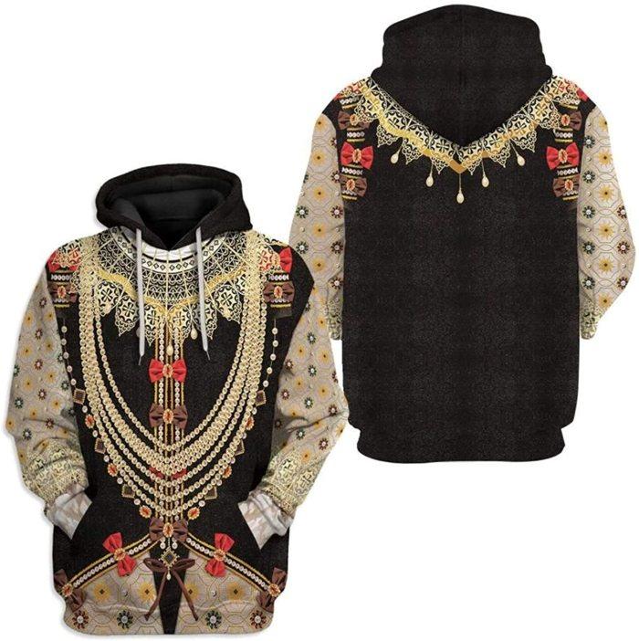 Elizabeth Tudor Historical Figure Unisex 3D Printed Hoodie Pullover Sweatshirt