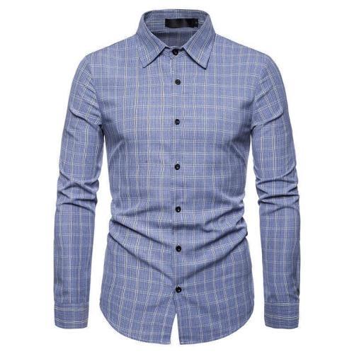 Men'S Business Casual Long Sleeve Dress Shirt
