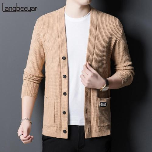 High Quality Business Knitted Cardigan Casual Woolen Sweater