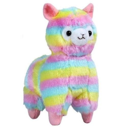 Rainbow Alpaca Keychain